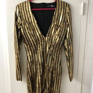 SPARKLY worn only once Boohoo dress